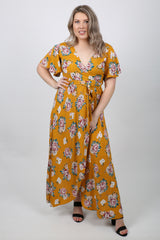 Savannah V Neck Long Wrap Dress