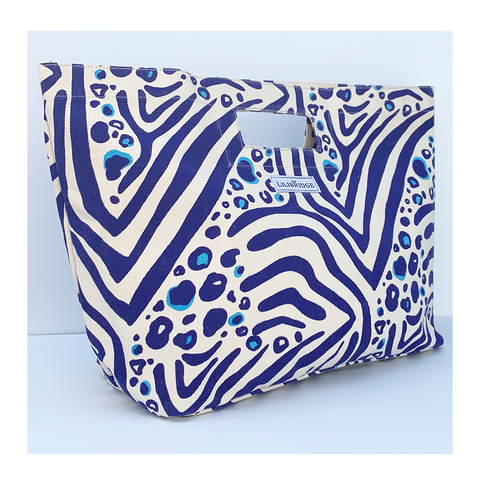 The Lilibridge Bag, Zebra Cat Blue