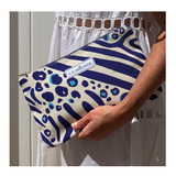 The Lilibridge Clutch, Zebra Cat Blue