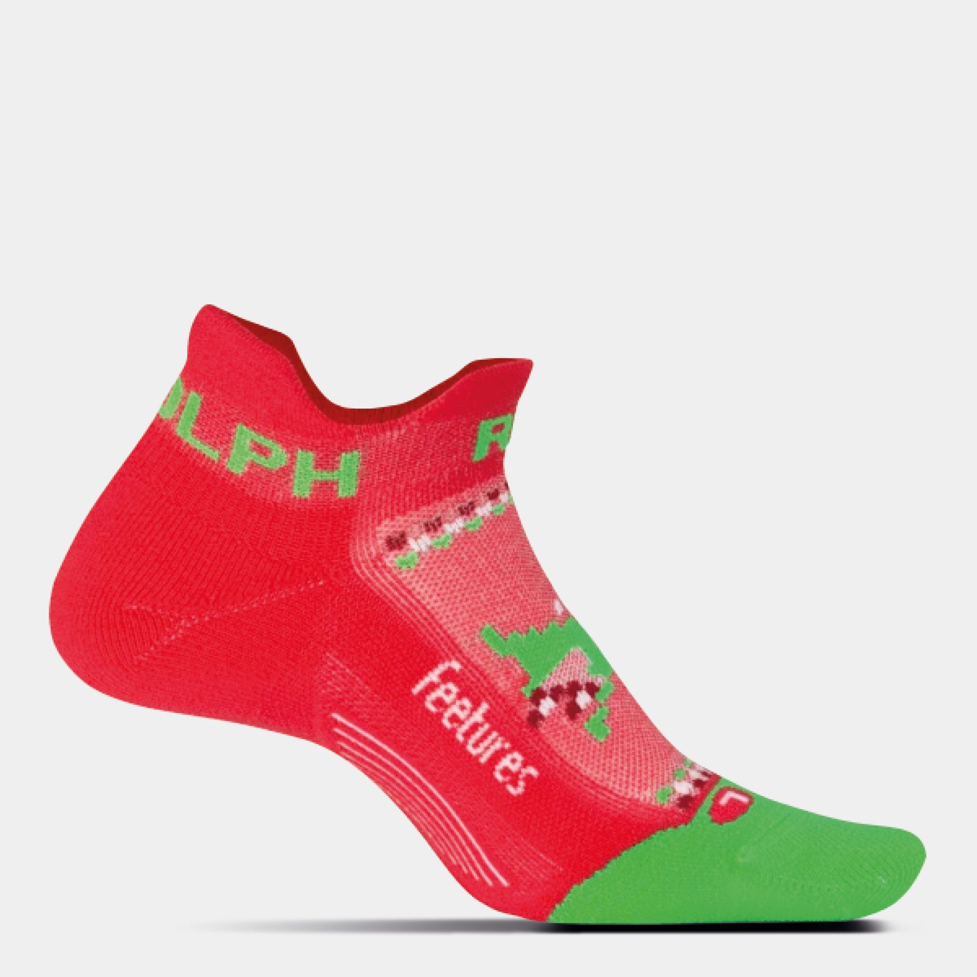 Elite Run Rudolph Light Cushion No Show Tab