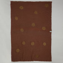 Load image into Gallery viewer, Linen Blanket - Terracotta & Dots (outlet)