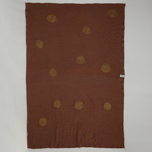 Linen Blanket - Terracotta & Dots (outlet)