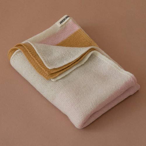 Ilon Wool Blanket - Pink Stripe