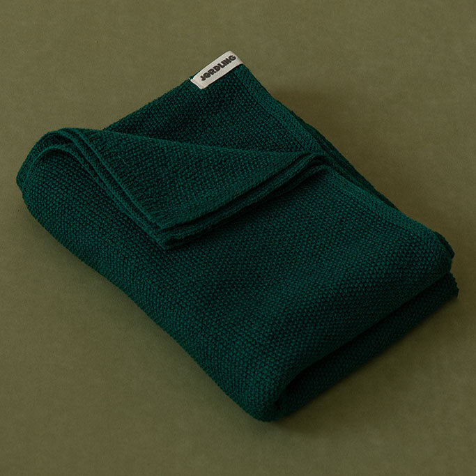 Ilon Wool Blanket - Moss Green