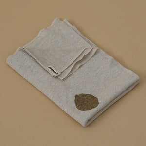 Nova Linen Blanket - Cloud White & Dots