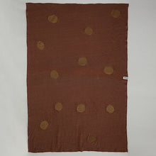 Load image into Gallery viewer, Jersey Linen Blanket - Terracotta & Dots
