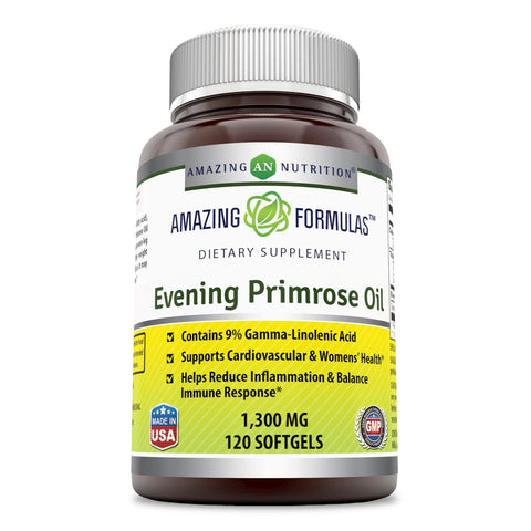 Image of Amazing Formulas Evening Primrose Oil Dietary Supplement  1300 Mg 120 Softgel