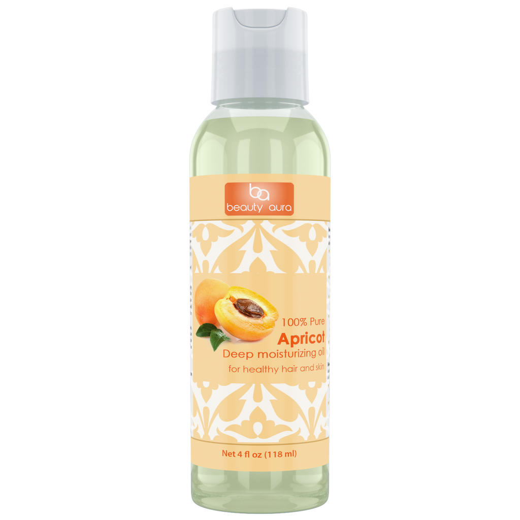 Beauty Aura Apricot Oil 4 Fl Oz 118 Ml