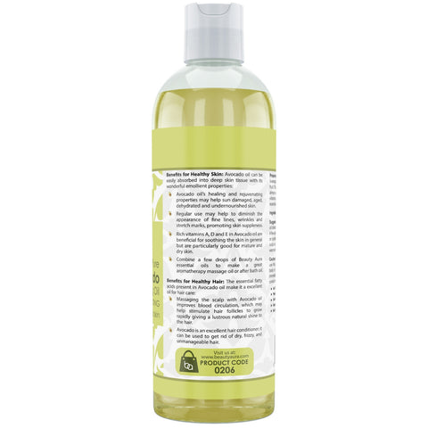 Beauty Aura Pure Avocado Oil 16 Fl Oz