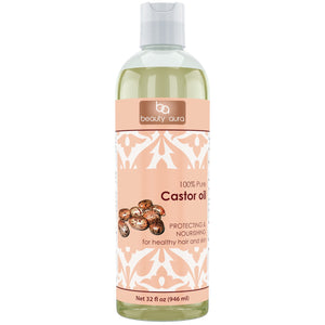 Beauty Aura Pure Castor Oil 32 Fl Oz