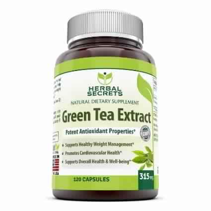 Herbal Secrets Green Tea Extract - 315 Mg, 120 Capsules - Amazing Nutrition