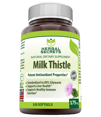 Herbal Secrets Milk Thistle 175 Mg 120 Softgels