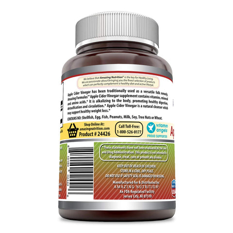 Image of Amazing Formulas Apple Cider Vinegar 500 Mg 120 Capsules