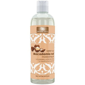 Beauty Aura Macadamia Oil 16 Fl Oz 473 Ml