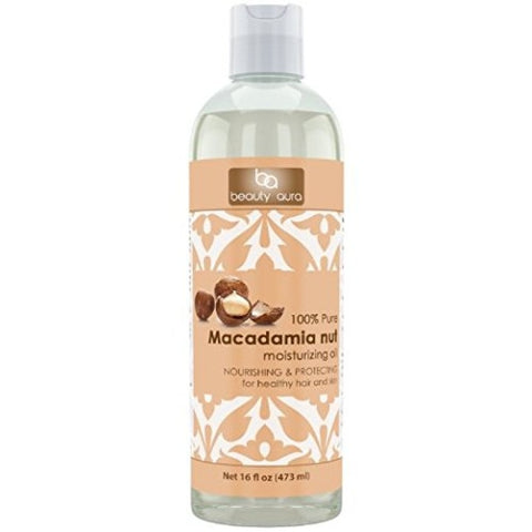 Image of Beauty Aura Macadamia Oil 16 Fl Oz 473 Ml