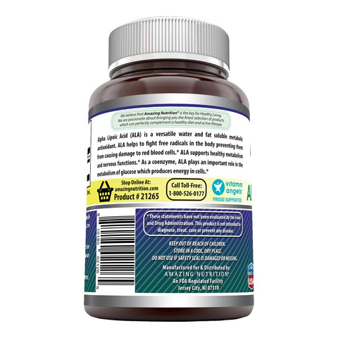 Image of Amazing Formulas Alpha Lipoic Acid 600 mg 120 Capsules