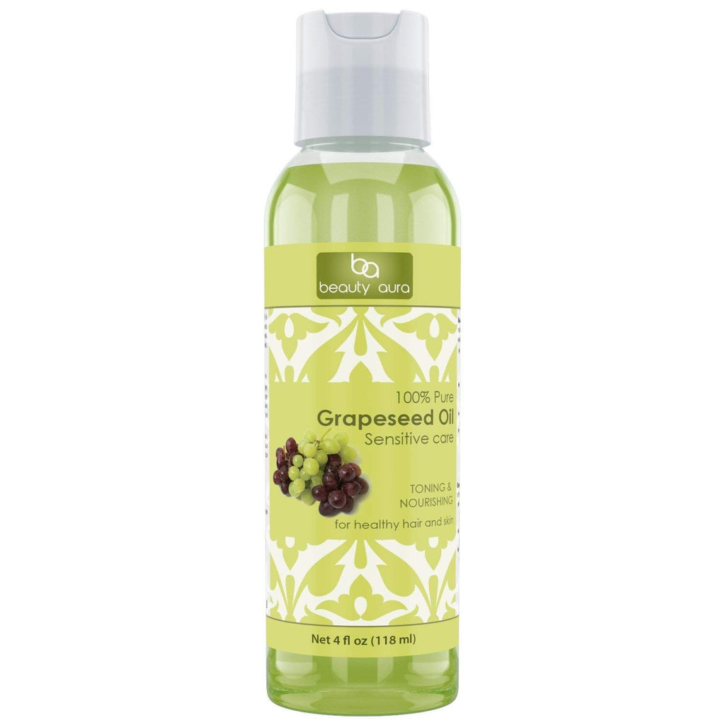 Beauty Aura Grapeseed Oil 4 Fl Oz 118 Ml
