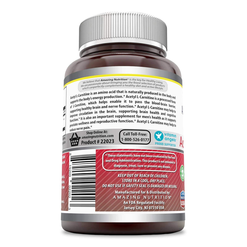Amazing Formulas Acetyl L Carnitine 1000 Mg 240 Tablets