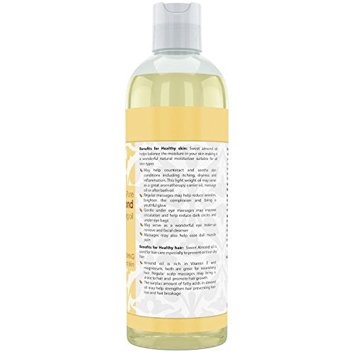 Beauty Aura Sweet Almond Oil 32 Fl Oz 946 Ml