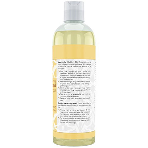 Image of Beauty Aura Sweet Almond Oil 32 Fl Oz 946 Ml