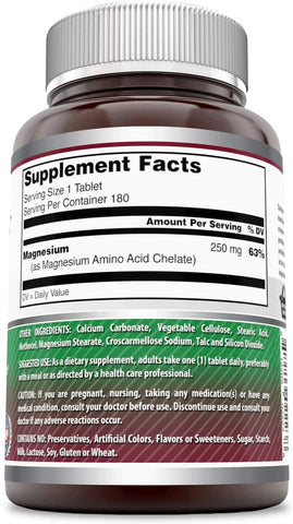 Amazing Formulas Chelated Magnesium 250 Mg 180 Tablets