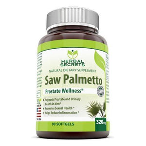 Herbal Secrets Saw Palmetto Supplement - 320Mg, 90 Softgels - Amazing Nutrition