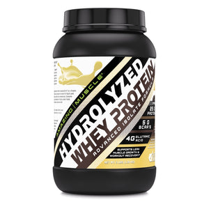 Amazing Muscle Hydrolyzed Whey Protein Isolate with Natural Flavor & Sweetner 3 Lbs  Vanilla Flavor