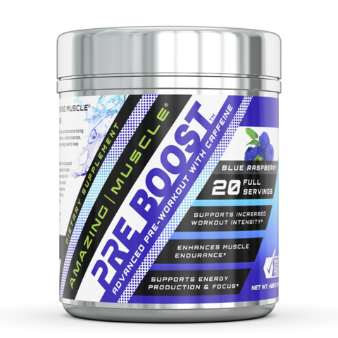 Amazing Muscle Pre Boost Pre-Workout with Caffeine 20 Servings