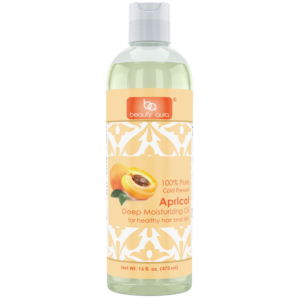 Beauty Aura Apricot Oil 16 Fl Oz 473 Ml