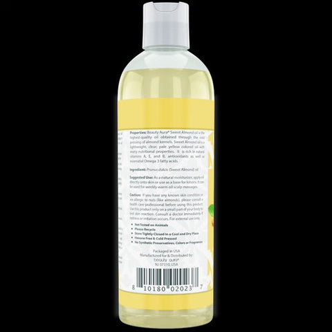 Beauty Aura Pure Sweet Almond Oil 16 Fl Oz 473 Ml