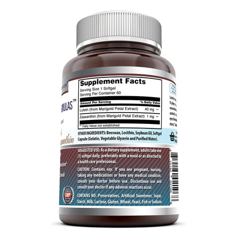 Image of Amazing Formulas Lutein 40 mg with Zeaxanthin 1600 mcg- 60 Softgels