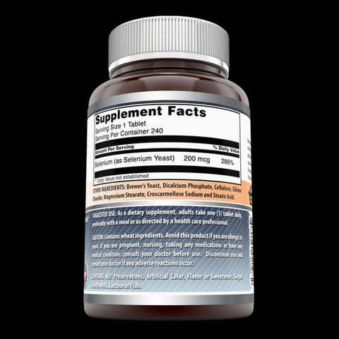 Image of Amazing Formulas Selenium 200 mcg Natural Selenium Yeast 240 Tablets