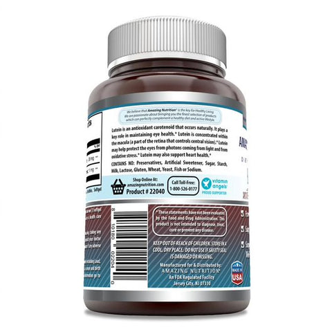 Image of Amazing Nutrition Amazing Formulas Lutein 20 mg with Zeaxanthin 800 mcg- 240 Softgels- Supports Eye Health,Healthy Vision & Overall Well-being