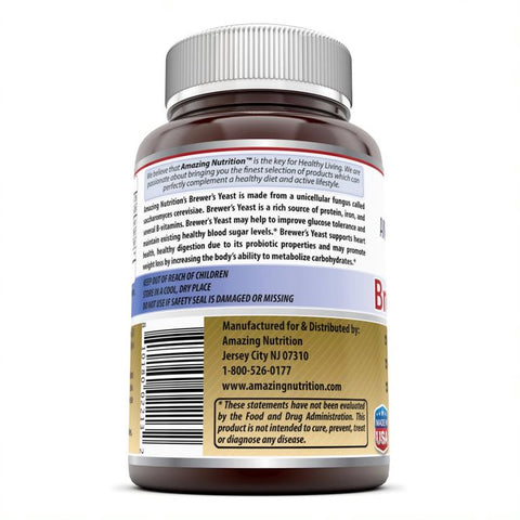 Image of Amazing Formulas Brewers Yeast 7.5 Grain Capsule 500mg 240 Tablets