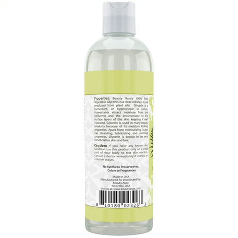 Image of Beauty Aura Vegetable Glycerin 16 Fl Oz 473 Ml