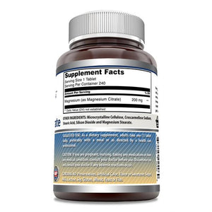 Amazing Formulas Magnesium Citrate 200 Mg 240 Tablets