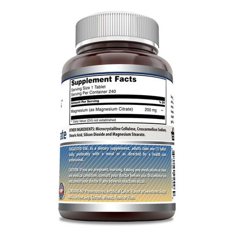 Image of Amazing Formulas Magnesium Citrate 200 Mg 240 Tablets