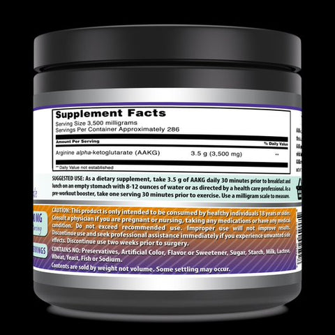 Image of Amazing Nutrition Amazing Formula(1 kg) Powder 2.2 Lbs Arginine Alpha Ketoglutarate (AAKG) Dietary Supplement (Approx. 200 Servings.) (Non-GMO,Gluten Free) Supports Athletic Performance, Protein Synthesis, Lean Muscle Mass, Strength Gain Endurance