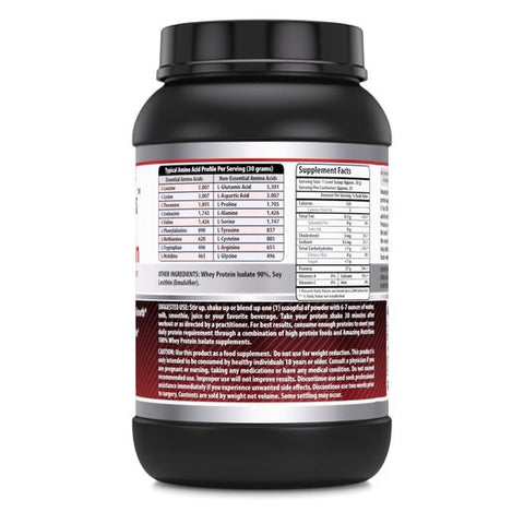 Amazing Formulas Whey Protein Isolate Powder 2 lbs Unflavored