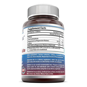 Amazing Formulas Magnesium Malate 1250 mg per Serving 180 Tablets