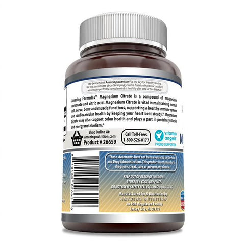 Amazing Formulas Magnesium Citrate 200 Mg 120 Tablets