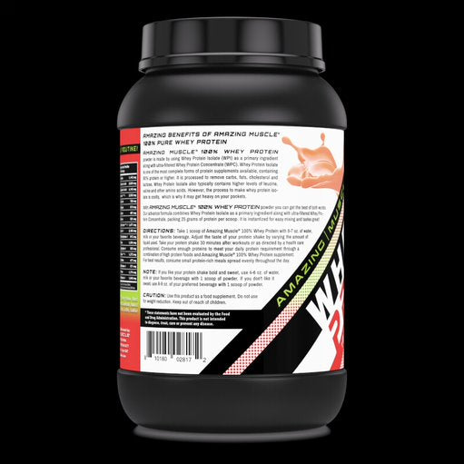 Amazing Muscle Whey Protein Isolate & Concentrate 2 Lbs Strawberry Flavor