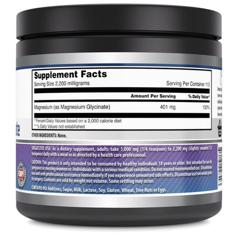 Amazing Formulas Magnesium Glycinate 250 G 113 Servings