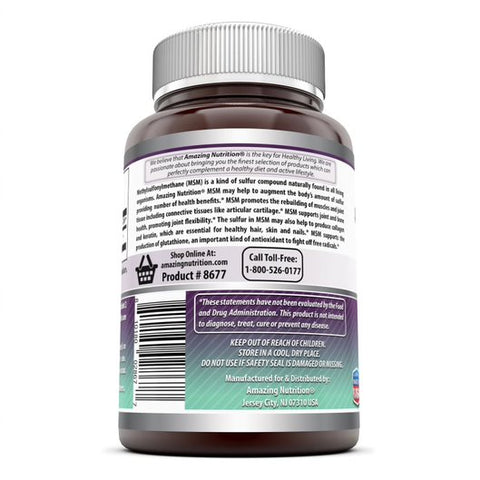 Image of Amazing Formulas MSM 1000 Mg 200 Tablets