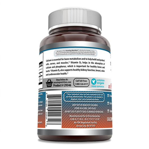 Amazing Formulas Calcium with Vitamin D3 1000 Mg 220 Softgels