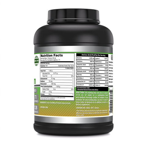 Amazing Formulas Grass FED Whey Protein Powder 5 Lb Unflavored