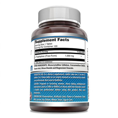 Amazing Formulas L-Tryptophan 1000 Mg 120 Tablets