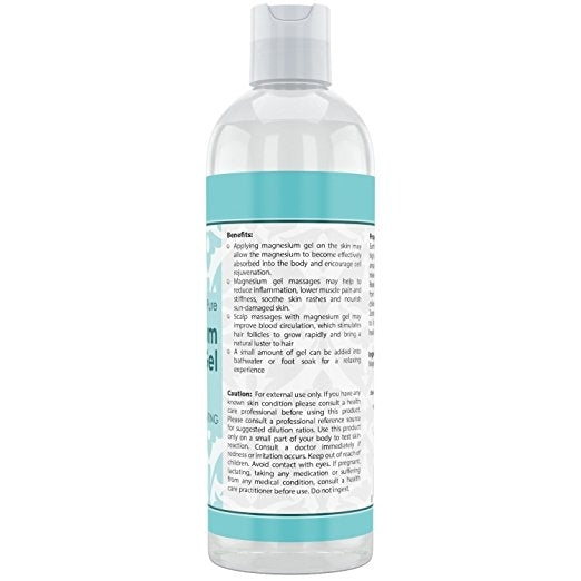 Beauty Aura 100% Pure Magnesium Gel 16 Fl Oz