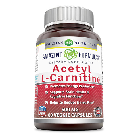 Image of Amazing Formulas Acetyl L Carnitine 500 Mg 60 Veggie Capsules