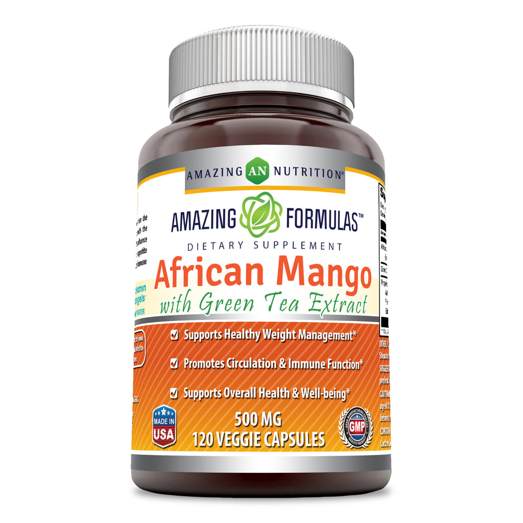 Amazing Formulas African Mango with Green Tea Extract 500 Mg 120 Capsules